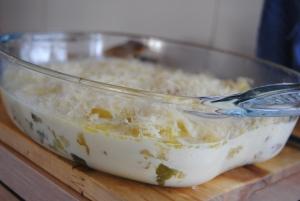 patatas antes de gratinar